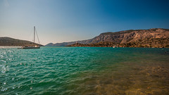 Symi - Panormitis (forceberg) Tags: blue sea mountain holiday green water stone boat nikon ship angle wide sigma greece 1020mm rodos ultra symi 2012 proteus 10mm d90 panormitis aegian 4ceberg forceberg szabogyul4