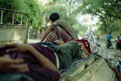 Let Me Take a Nap... (Sheikh Shahriar Ahmed) Tags: street sleeping film analog 50mm nikon candid labor tired fujifilm rest worker dhaka nikkor f18 bangladesh nikonf6 af50mmf18d fullerroad fujicolorc200 dhakadivision ducampus epsonv330 sheikhshahriarahmed