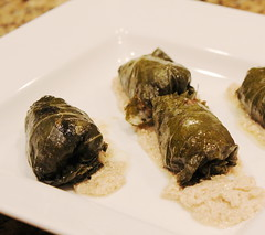 Dolmas with Tahini (Vegan Feast Catering) Tags: vegan stuffed grapeleaves