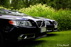 Volvo V70 times two (VisaStenvall) Tags: summer vacation horse black grass metal canon eos volvo is hp break power midsummer cottage sunny 200 usm d5 215 6d v70 bhp 25t heinola f4l 24105mm rdesign