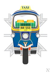 Tuk Tuk (nuthon) Tags: original art work poster thailand design style only vehicle tuktuk illustrator vector 2013 nuthon