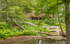 Grant & Jennifer Vandermeulen Wedding 02 (nschmidtphoto) Tags: trees wedding summer water cabin nikon outdoor lodge aisle setting d7100
