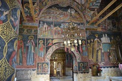 Horezu Monastery in Wallachia, Church of Sts. Constantine and Helen, 1690-92, interior with paintings of 1694 (15) (Prof. Mortel) Tags: romania wallachia horezu horezumonastery