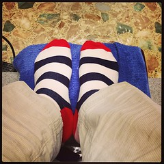 Post-pedi gratuitous #sassysocks photo (adurabull) Tags: square squareformat mayfair iphoneography instagramapp uploaded:by=instagram