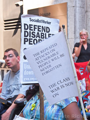 PQ040385 DPAC protest at DWP - 04.09.2013 (pete riches) Tags: uk london dan protest gb banners blockade dwp disabilityrights slogans picket placards wheelchairs segregation atos ilf wca dla dpac disabilitylivingallowance allfie allianceforinclusiveeducation weekofaction caxtonhouse institutionalisation peteriches disabilityinclusion disabledpeopleagainstcuts disabledactivistsnetwork workcapabilityassessment independentlivingfund deptforworkandpensions disabledactivists reclaimingourfutures atosfaithhealer atosmiraclehealer transportaccessibility
