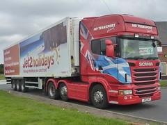 JP11 JHP (Cammies Transport Photography) Tags: road 2 truck holidays edinburgh transport jet lorry scania jhp r480 cliftonhall jp11jhp