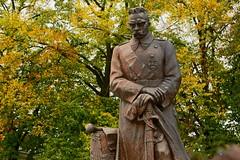 Statue of Józef Piłsudski before Warsaw's Belweder Palace