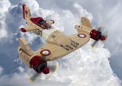 V-29 Firestorm (JonHall18) Tags: plane airplane fighter lego aircraft fantasy ww2 moc dieselpunk