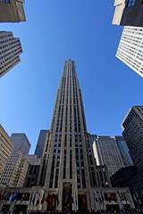 Rockefeller Building (st_hart) Tags: new york building up rock outside nbc looking top rockefeller savefop