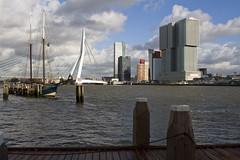 Rotterdam (Dick Aalders) Tags: haven boot rotterdam kade nederland nl brug erasmusbrug zuid zuidholland