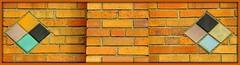 Brickwork and Tiles: Villa Nova Apartments, 13750 Dexter Avenue--Detroit MI (pinehurst19475) Tags: city tile apartments architecturaldetail detroit tiles apartmentbuilding brickwork villanova architecturaldetails orangebrick brickandtile dexteravenue villanovaapartments 13750dexteravenue