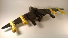 BT-52 Blacktron Fighter/Bomber (Captain Herffenblerf) Tags: fighter lego space scifi bomber blacktron