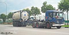 Scania 124C 420 , Poh Tiong Choon Logistics Pte Ltd (Waverly Fan) Tags: port truck gateway psa logistics inter choon poh tiong haulage