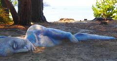 Earth Spirit, Peppermint Bay Tasmania (Yarra girl) Tags: sculpture tasmania woodbridge peppermintbay earthspirit thestackings