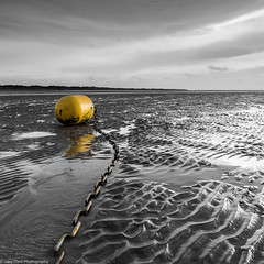 Buoy & Ripples (~g@ry~ (clevedon-clarks)) Tags: beach yellow coast nikon somerset chain coastal ripples burnham burnhamonsea d800 northsomerset berrow singlecolour garyclark buoyant sandripples