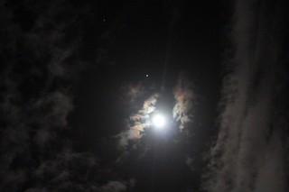 Moon, Jupiter, Pollox and Alhena