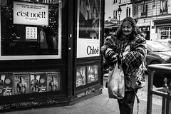 And so this is Xmas... (Sergi Wave) Tags: christmas street xmas bon winter woman white black paris france streets saint canon this hotel is mas rags femme streetphotography wave noel x clothes cest 5d 40 28 prado pancake 40mm nol passage avenue rue sergi march sdf denis faubourg htel ttu tetu 2013