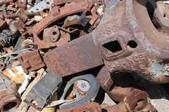 Scrap metal at Estacion Socompa