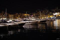 Monaco by night (Olivier Deschamps Ph) Tags: city night port french boats harbor riviera harbour yacht montecarlo monaco shore cote nuit luxurious dazur hercule munegu