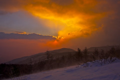 The intra-cloudy sunrise (Yoshia-Y) Tags: snow fog sunrise mtnyukasa