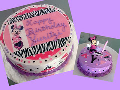 Minnie Mouse cake by Brenda, Santa Cruz CA, www.birthdaycakes4free.com