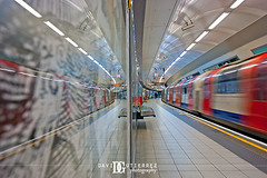 Inception (davidgutierrez.co.uk) Tags: city uk travel blue light red urban motion blur reflection london art colors train underground transport tube londres ロンドン londyn 伦敦 런던 inception лондон sonyalphadt1118mmf4556 sonyα350dslra350