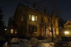 Cambridgeport midnight (nicknormal) Tags: house snow boston night cambridgeport