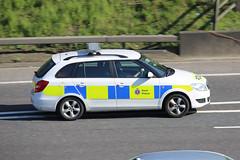 Kent Police Fabia 2 Estate (kenjonbro) Tags: uk england white stone canon kent estate stationwagon skoda dartford fabia dartfordtunnel a282 worldcars dartfordrivercrossing kentpolice kenjonbro fabia2 gn60djd canoneos5dmkiii canonzoomlensef70300mm1456isusm