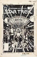 George Perez Star Trek #1 Cover Original Art, 1984 (Tom Simpson) Tags: startrek art illustration vintage comics 1984 comicbook spock scifi comicbooks leonardnimoy captainkirk mrspock jamestkirk scifiart jameskirk
