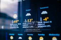 Weather forecast on a digital display (ifeelstock) Tags: london unitedkingdom albumcover bookcover cdcover top100 top10 coverphoto advertisingphotography stockposter ineedanimageformynextproject photosformyappimageformyarticle photoforbrochure weatherforecastinterfaceonamoderndigitaldisplayshowingc weatherforecastinterfaceonamoderndigitaldisplayshowingcoldweatherforthenextdaystiltshiftlensusedtooutlinethecold13symbols