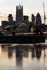 City of London seen from outside City Hall (Jon Bagge) Tags: sunset england london thames cityhall gherkin cityoflondon cheesegrater canoneos60d goldenart sigma35mmf14dghsmart jonbagge