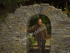 WM Dean Mclellan 3, Bio pic, Arch, freestanding wall, dry laid stone construction, copyright 2014