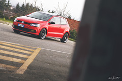 "diavolo rosso (Guido ""Weedo"" Benedetto) Tags: red italy car volkswagen picnic clean devil tuner gti tuning turin polo germanstyle worthersee guidobenedetto"