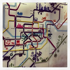 Cool #subway #map at #chongqing #china train station