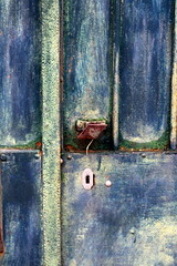 Rusty but pretty (Nadia (no awards please !)) Tags: door blue metal rust iron village bleu porte gard fer rouille bleuklein oupresque générac