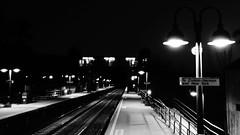Waiting To Hear It Then See It (thetrick113) Tags: blackandwhite night train traintracks tracks trainstation mta hudsonvalley passengertrain hudsonline putnamcountynewyork garrisonnewyork garrisontrainstation sonyslta65v mtahudsonline
