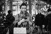 Eyes at the back.... (jonron239) Tags: boy woman man london girl night scarf smartphone oxfordcircus