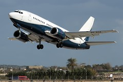 9H-AHA LMML 08-02-2015 (Burmarrad (Mark) Camenzuli) Tags: cn aircraft air x airline boeing registration charter 24647 737505 lmml 9haha 08022015