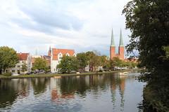Lübecker Idylle (a'Shioji) Tags: church nature river germany deutschland cityscape cathedral lübeck