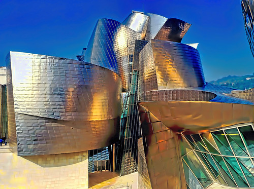 art museum architecture modern century river frank this spain downtown juan contemporary gehry bilbao foundation exhibitions r expressionist guggenheim museums peninsula bizkaia basque solomon ignacio the iberian nervion vidarte deconstructivism jorgemolina