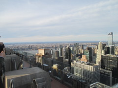 View from the Top of the Rock - RCA - GE Building roof 5230 (Brechtbug) Tags: from birthday new york city nyc roof winter urban snow cold building rock 30 skyline cityscape afternoon view top january center east covered rockefeller ge rca 2015 01252015
