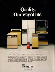 Whirlpool - 1979 (rchappo2002) Tags: fashion vintage magazine advertising fridge oven ad machine retro advertisement stove refridgerator advert 70s dishwasher 1970s seventies 1979 washing appliance whitegoods
