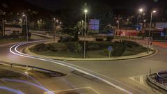 Roundabout (6:52 - long exposure) (ponzoñosa) Tags: longexposure light bus luz station roundabout rotonda galicia estación ourense 52weeks