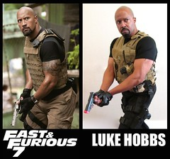 Luke Hobbs (MorpheusBlade) Tags: costume gun cosplay muscle bald comicon tactical fastandfurious dwaynejohnson fastandfurious5 lukehobbs fastandfurious6 katsucon2015