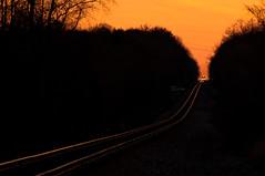 09-583 (George Hamlin) Tags: railroad trees sunset sky train photography virginia photo george colorful ns norfolk headlights southern rails decor freight glint hamlin 12r nokesville