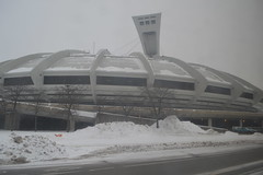 Stade olympique / The Olympic Stadium with the Montral Tower during a Canadian winter snow storm in Montral, Qubec, Canada (RYANISLAND) Tags: winter snow canada cold montral quebec montreal canadian qubec northamerica snowing coldweather canadawinter canadianwinter montrealcanada montralqubec montrealquebec quebeccanada qubeccanada montralcanada