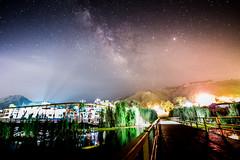 Hit and run - Milkyway at the lake (Chingazo) Tags: morning pakistan sky lake travelling night stars landscape hit nikon run astro full frame lahore d800 islamabad milkyway kallar kahar landscapeshot