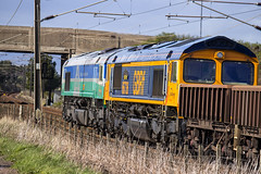 66736 & 66711 6S51 (Rossco156433) Tags: train outside scotland gm diesel shed engine loco locomotive freight irvine levelcrossing ayrshire generalmotors class66 northayrshire gbrailfreight gailes gbrf 66711 66736