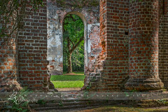Abandoned (betty wiley) Tags: trees brick abandoned church moss ruins southcarolina southern beaufort sheldon bettywileyphotography