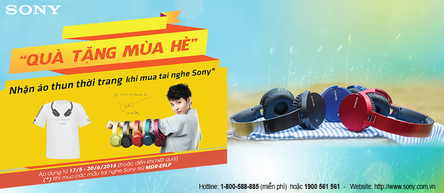 Quà tặng mùa hè dành cho tai nghe Sony